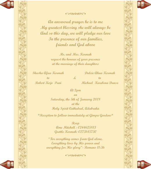 Christian Wording For Wedding Invitations: Christian Samples, Christian Printed Text, Christian