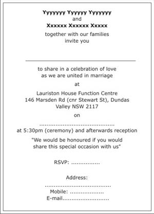 Christian Wedding Invitation WordingsChristian Wedding WordingsChristian