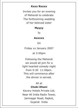 Mehndi ceremony wordings mehndi wordings mehndi ceremony card wordings