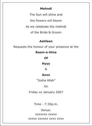 Mehndi Invitation Wording was perfect invitations sample