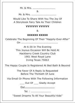 Muslim Wedding Invitation Wordings,Muslim Wedding Wordings ...