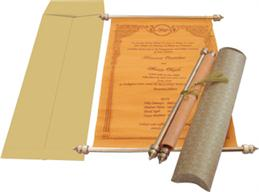 The Luxurious Quality Of Royal Look Scroll Invitation Available In An Impressive Palette Oran