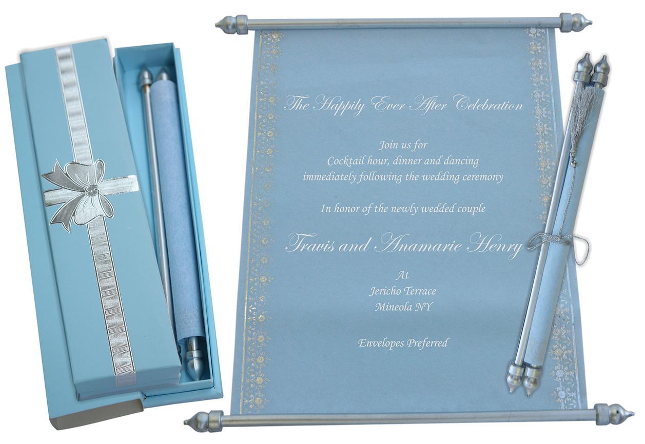 scroll wedding invitations s 86