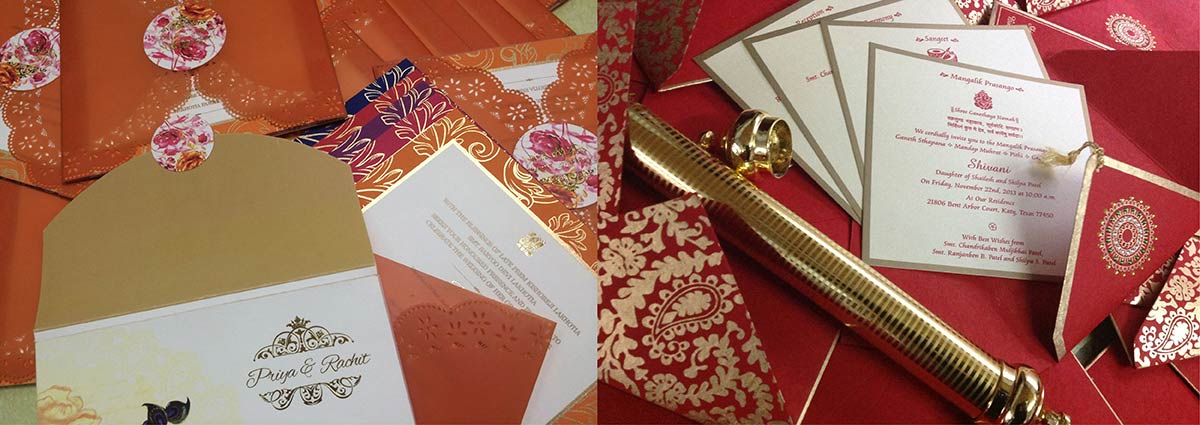 wedding program scrolls
