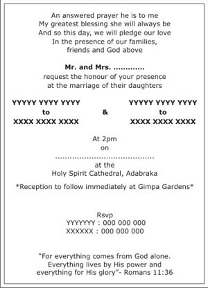 Christian Wedding Invitation Wordings Christian Wedding