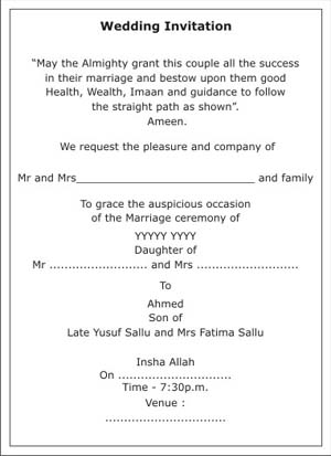 Muslim wedding invitation wordingsmuslim wedding wordingsmuslim text sample 1 stopboris Choice Image