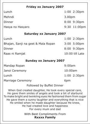 Wedding programme wordingsprogramme wordingswedding programme text text sample 1 stopboris Choice Image