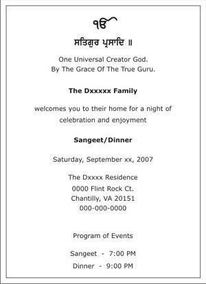 Wedding Sangeet Ceremony Invitation Wordings Sangeet Ceremony