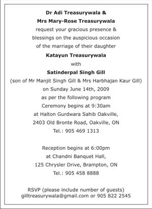 Sikh wedding invitation wordingssikh wedding wordingssikh wedding text sample 1 stopboris Gallery